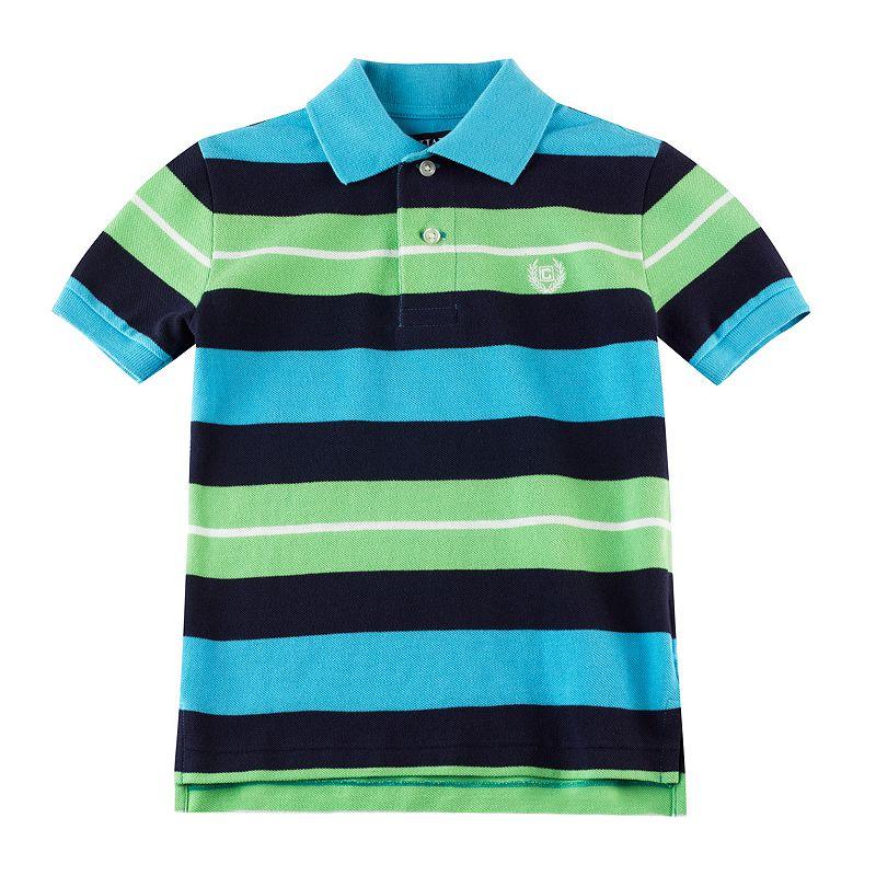 Toddler Boy Chaps Blue Striped Polo