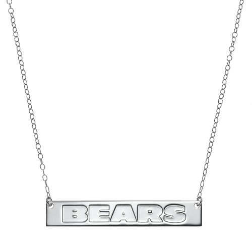 Chicago Bears Sterling Silver Bar Link Necklace