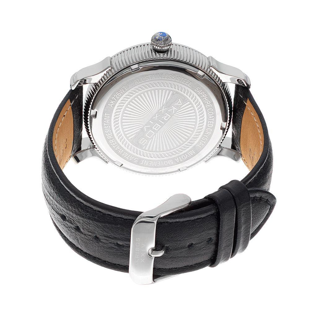 Akribos XXIV Men's Extremis Leather Watch