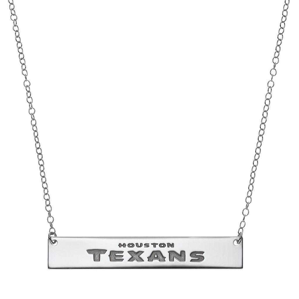 Houston Texans Sterling Silver Bar Link Necklace