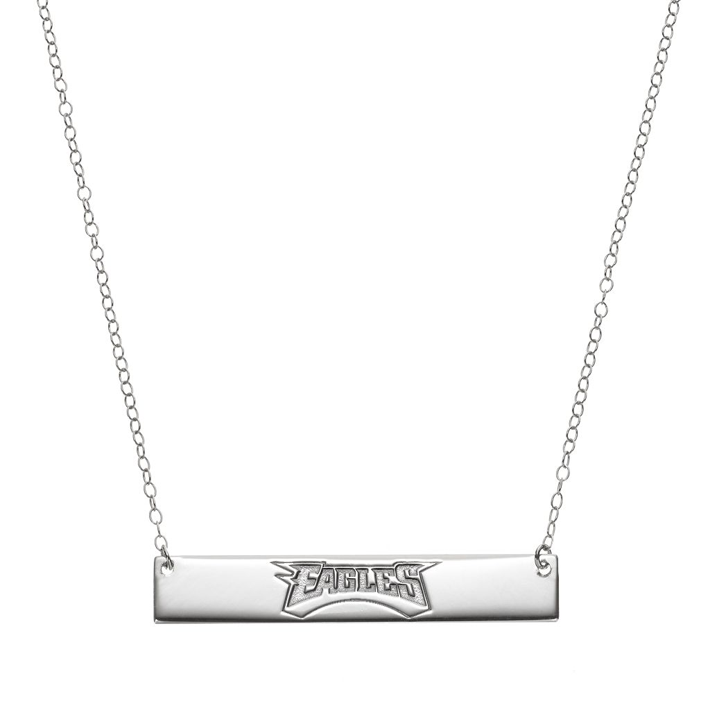 Philadelphia Eagles Sterling Silver Bar Link Necklace