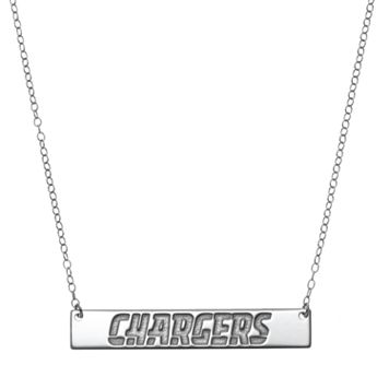 San Diego Chargers Sterling Silver Bar Link Necklace