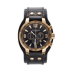 Akribos XXIV Men's Extremis Leather Chronograph Watch