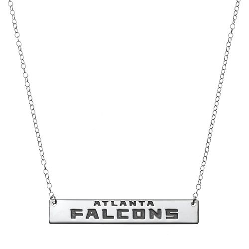 Atlanta Falcons Sterling Silver Bar Link Necklace
