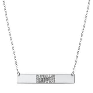 Cleveland Browns Sterling Silver Bar Link Necklace