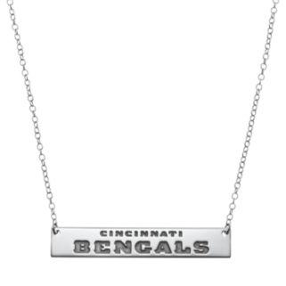 Cincinnati Bengals Sterling Silver Bar Link Necklace