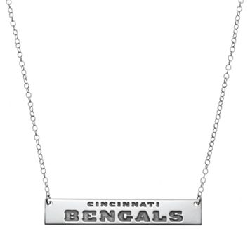 Cincinnati Bengals Sterling Silver Bar Link Necklace
