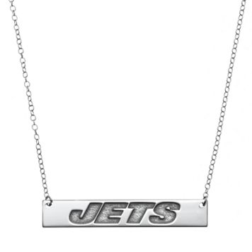 New York Jets Sterling Silver Bar Link Necklace