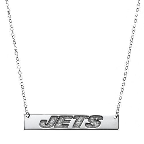 New York Jets Sterling Silver Bar Link Necklace