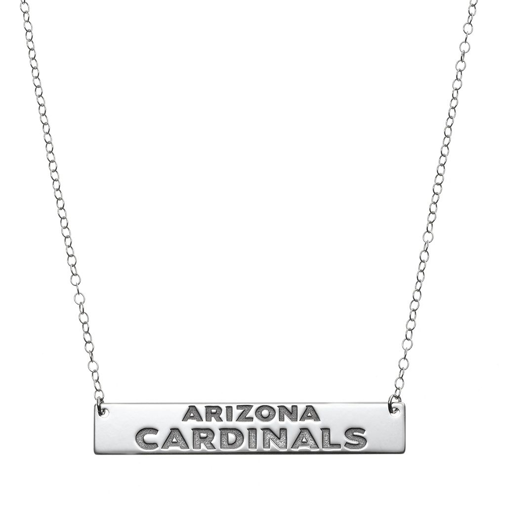 Arizona Cardinals Sterling Silver Bar Link Necklace