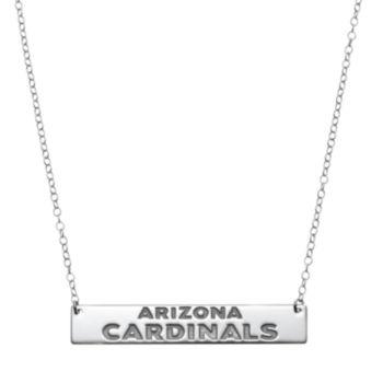 Arizona Cardinals Sterling Silver Bar Link Necklace