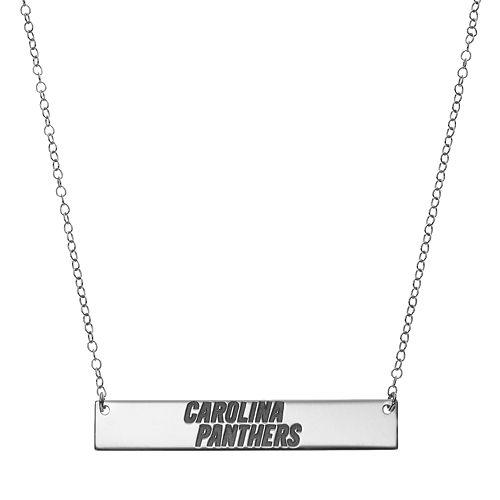 Carolina Panthers Sterling Silver Bar Link Necklace
