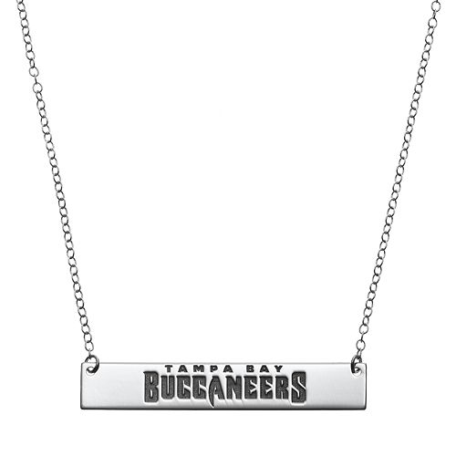Tampa Bay Buccaneers Sterling Silver Bar Link Necklace