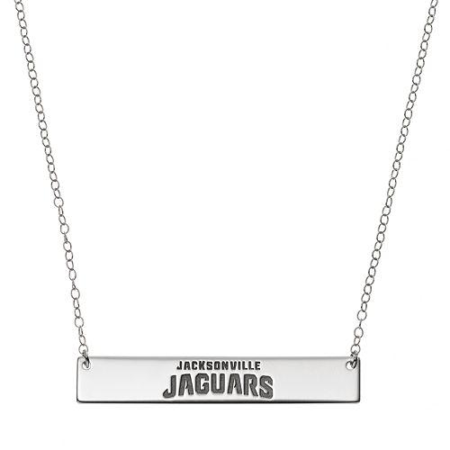 Jacksonville Jaguars Sterling Silver Bar Link Necklace