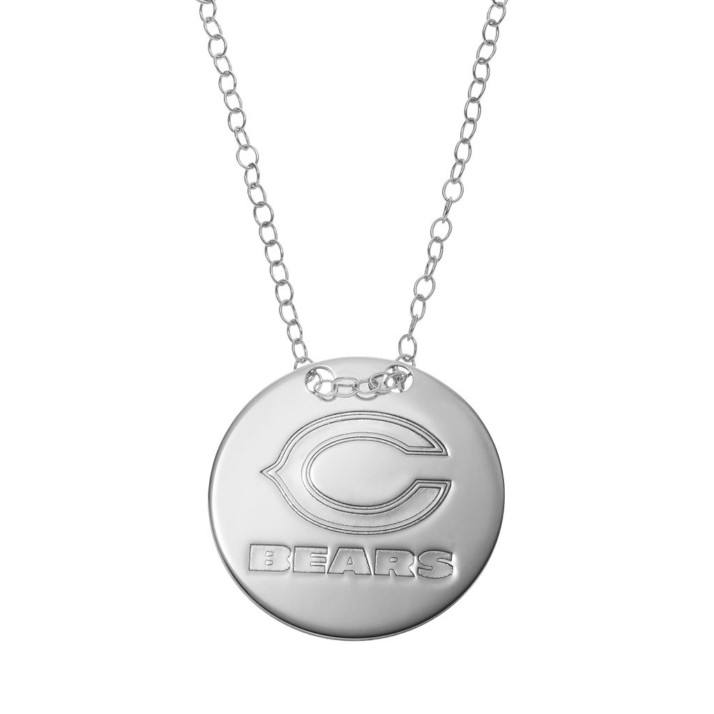 Chicago Bears Sterling Silver Team Logo Disc Pendant Necklace