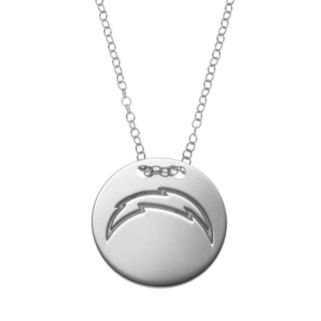 San Diego Chargers Sterling Silver Team Logo Disc Pendant Necklace