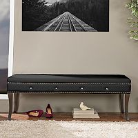 Baxton Studio Tavignano Contemporary Bench
