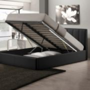 Baxton Studio Templemore Faux-Leather Storage Queen Bed