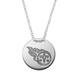 Tennessee Titans Sterling Silver Team Logo Disc Pendant Necklace