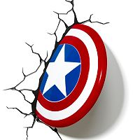 Marvel Captain America Shield 3D Night Light by 3D Deco Light