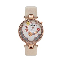 Akribos XXIV Women's Fiora Diamond Leather Watch