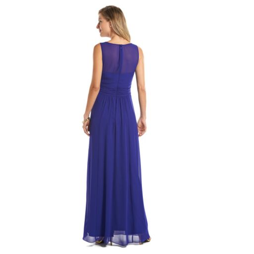 Chaps Ruched Evening Gown