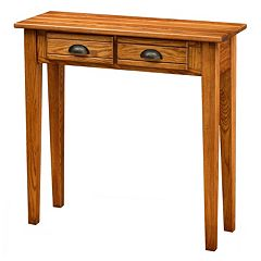 Leick Furniture Candleglow Finish 2-Drawer Console Table