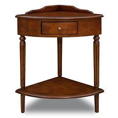 Leick Furniture Cherry Finish Corner End Table