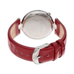 Akribos XXIV Women's Fiora Diamond & Crystal Leather Watch