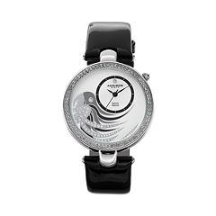 Akribos XXIV Women's Fiora Diamond & Crystal Leather Watch