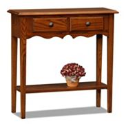 Leick Furniture Medium Oak Finish Small Console Table