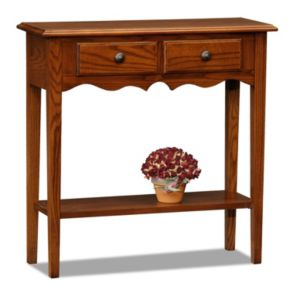Leick Furniture Medium Oak Finish Small Console Table