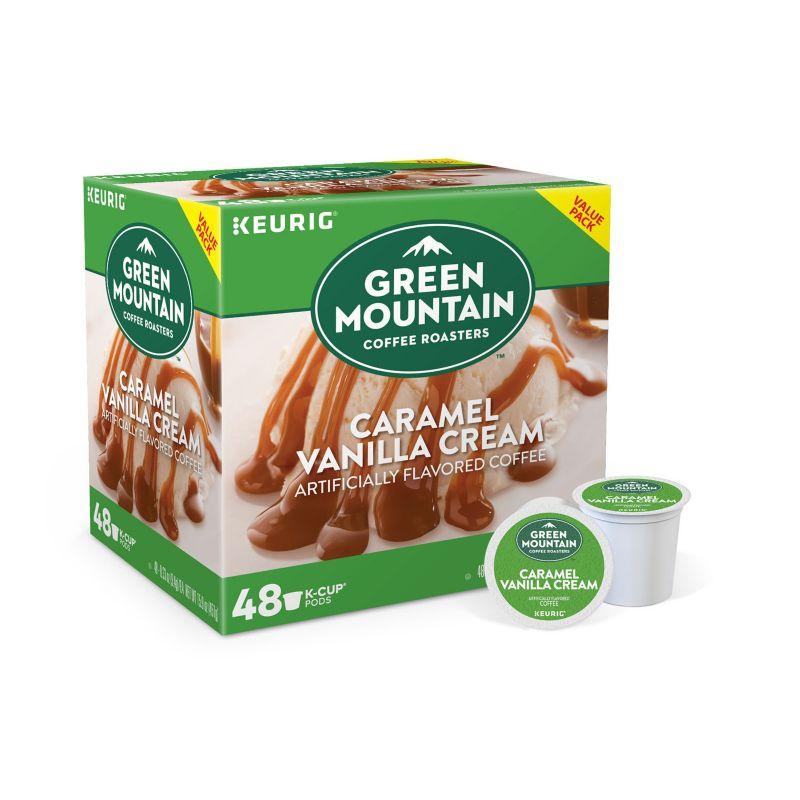Keurig K-Cup Pod Green Mountain Coffee Caramel Vanilla Cream - 48-pk. (Vanilla/Caramel/Cream)