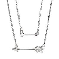 LC Lauren Conrad Double Strand Arrow Necklace