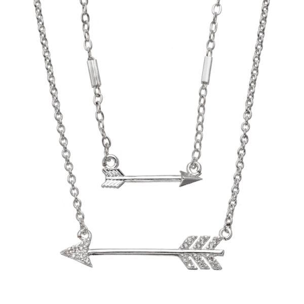 LC Lauren Conrad Double Strand Arrow Necklace