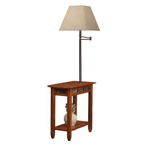Leick Furniture Vintage Lamp & End Table