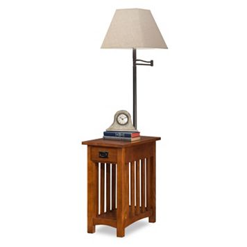 Leick Furniture Mission Oak Finish Lamp & End Table