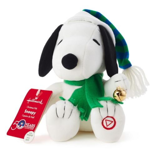 Peanuts Snoopy Christmas Pal Plush Toy With Sound By Hallmark
