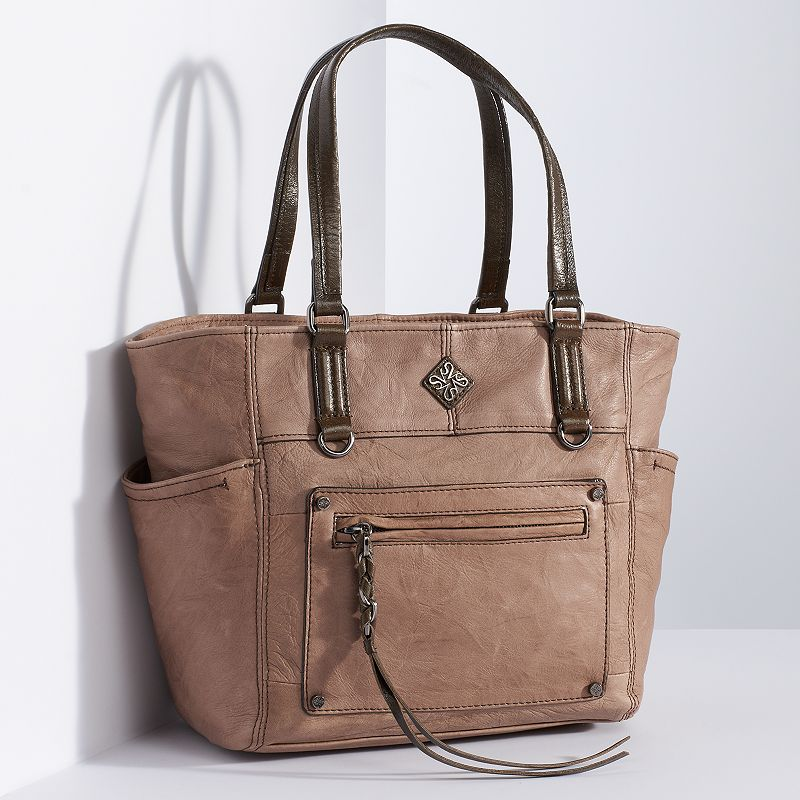 Simply Vera Vera Wang Small Leather Tote