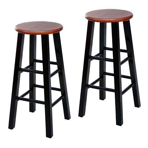 Fabulous Leick Furniture Round Two Tone Bar Stool 2 Piece Set Dailytribune Chair Design For Home Dailytribuneorg