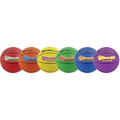 Champion Sports 6 pkRhino Skin Super Squeeze Basketball Set
