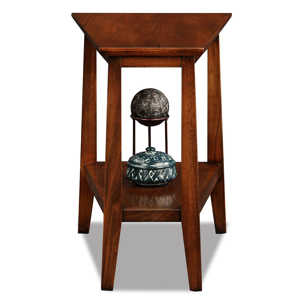 Leick Furniture Sienna Finish Wedge End Table