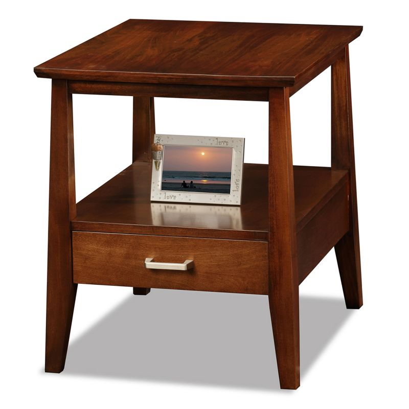 Leick Furniture Sienna Finish 1-Drawer End Table, Other Clrs