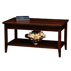 Leick Furniture Chocolate Cherry Finish Coffee Table