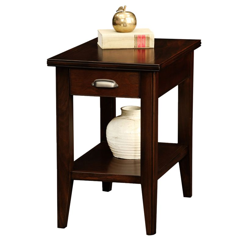 Leick Furniture Chocolate Cherry Finish 1-Drawer Narrow End Table, Other Clrs