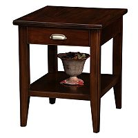 Leick Furniture Chocolate Cherry Finish 1-Drawer End Table