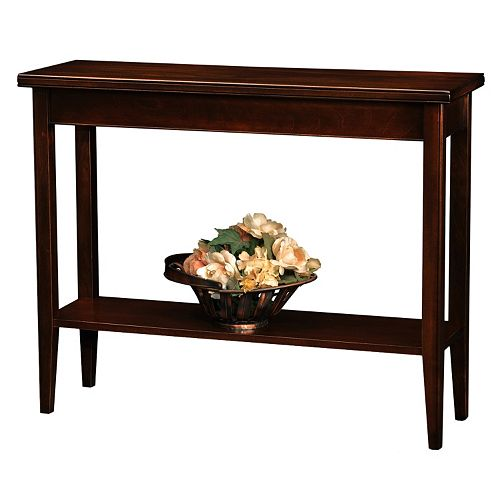 Leick Furniture Chocolate Cherry Finish Sofa Table