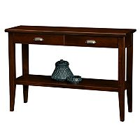 Leick Furniture Chocolate Cherry Finish 2-Drawer Sofa Table