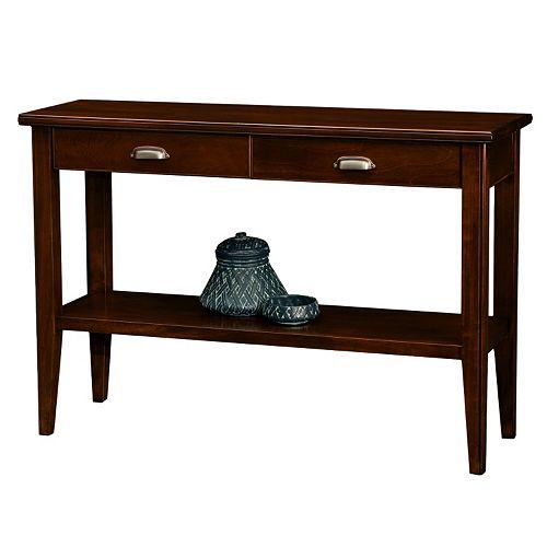 Leick Furniture Chocolate Cherry Finish 2-Drawer Sofa Table