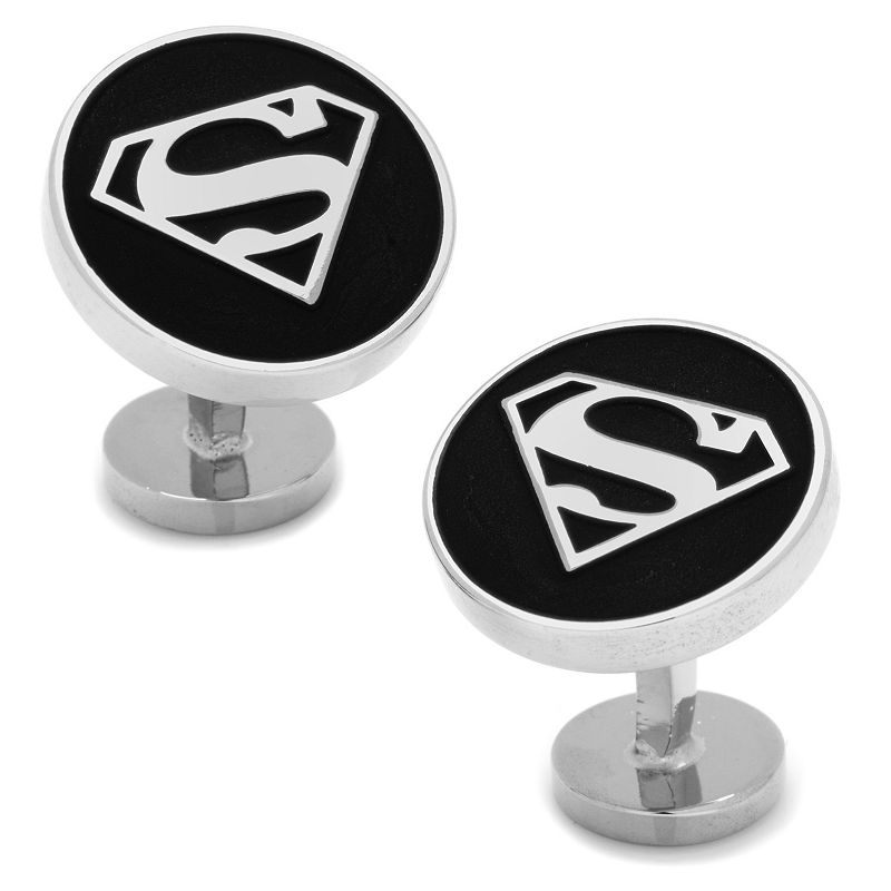 DC Comics Superman Shield Cuff Links, Men's, Black